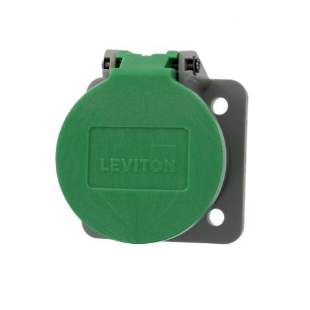 Leviton 16S31-G NEMA Type 3R Enclosure with Automatic Closing Lid, Thermoplastic Housing and Cover, Stainless Steel Torsion Spring, Green ()