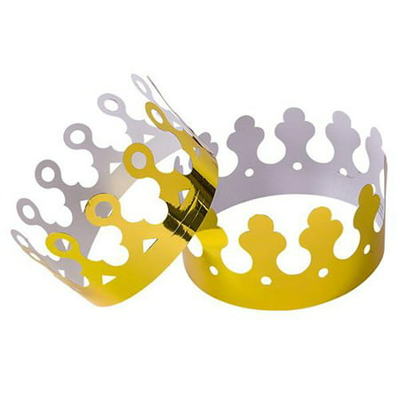 Mardi Gras Party Gold Foil Crowns ( qty of  24 ) (Mardi Gras Party Supplies)