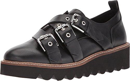 Shellys London Imogen Black Leather Buckled straps Poinetd Toe Creeper Platform (41)