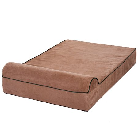 """48""""x30"""" Orthopedic Dog Bed Memory Foam with Pillow Brown - image 5 of 7"""