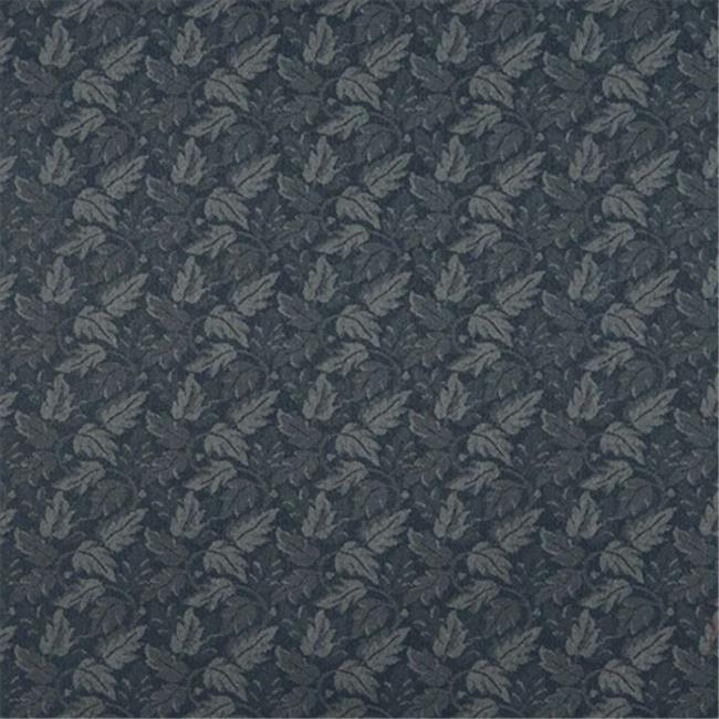 Designer Fabrics F706 54 in. Wide Navy Blue, Leaf Floral Heavy Duty Crypton Commercial Grade Upholstery Fabric
