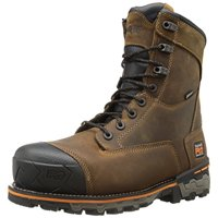 Timberland PRO Men's 8 Inch Boondock Composite Toe WP Industrial Work Boot,Brown Oiled Distressed Leather,9.5 M US