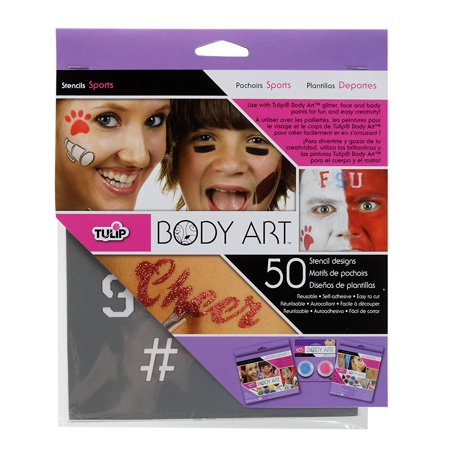 Body Art Stencil Designs Favorits, For use with body glitters and body paints By