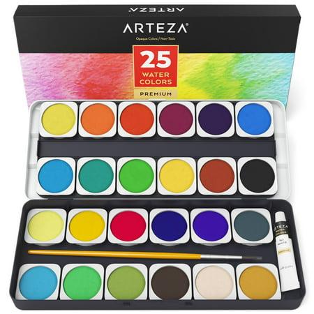 Jumbo Watercolor Set - Arteza Watercolor Paint (Set of 25)