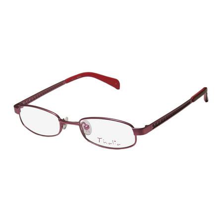 New Thalia Paola Womens/Ladies Designer Full-Rim Pink Fabulous Budget Popular Shape Frame Demo Lenses 46-17-130 Eyeglasses/Eye (Popular Designer)