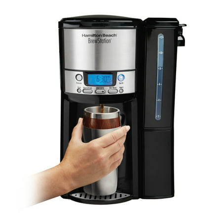 Hamilton Beach BrewStation 12 Cup Dispensing Coffeemaker with Removable Water Reservoir | Model#