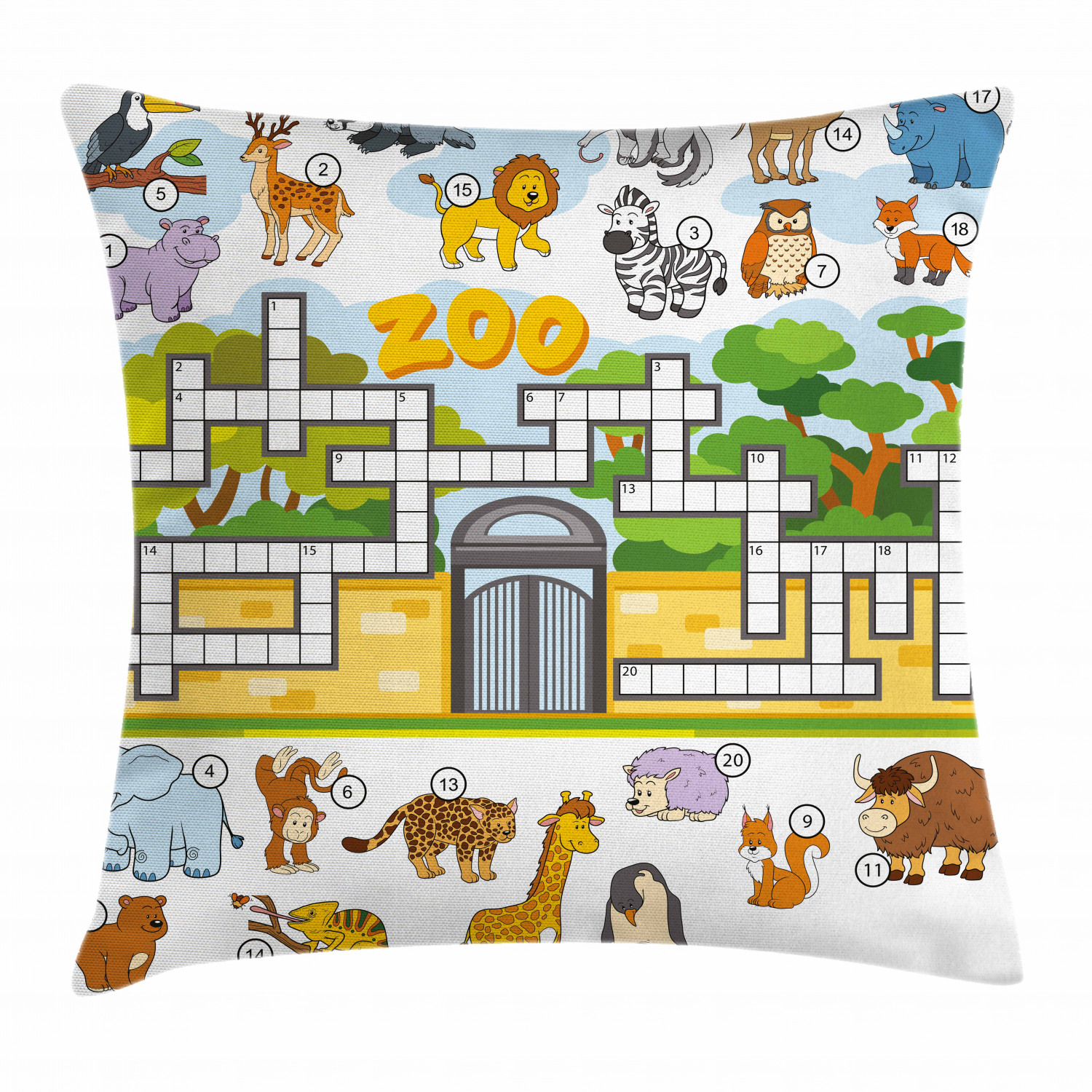 The Animal Zoo Skin Print Cotton Canvas Cushion Cover//Pillow Case*Custom Size