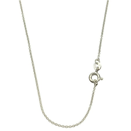 18 Inch Italian - Sterling Silver 1.3mm Fine Cable Nickel Free Chain Necklace Italy 18 Inch