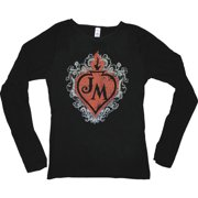 John Mellencamp  Flame Heart Girls Jr  Long Sleeve Black