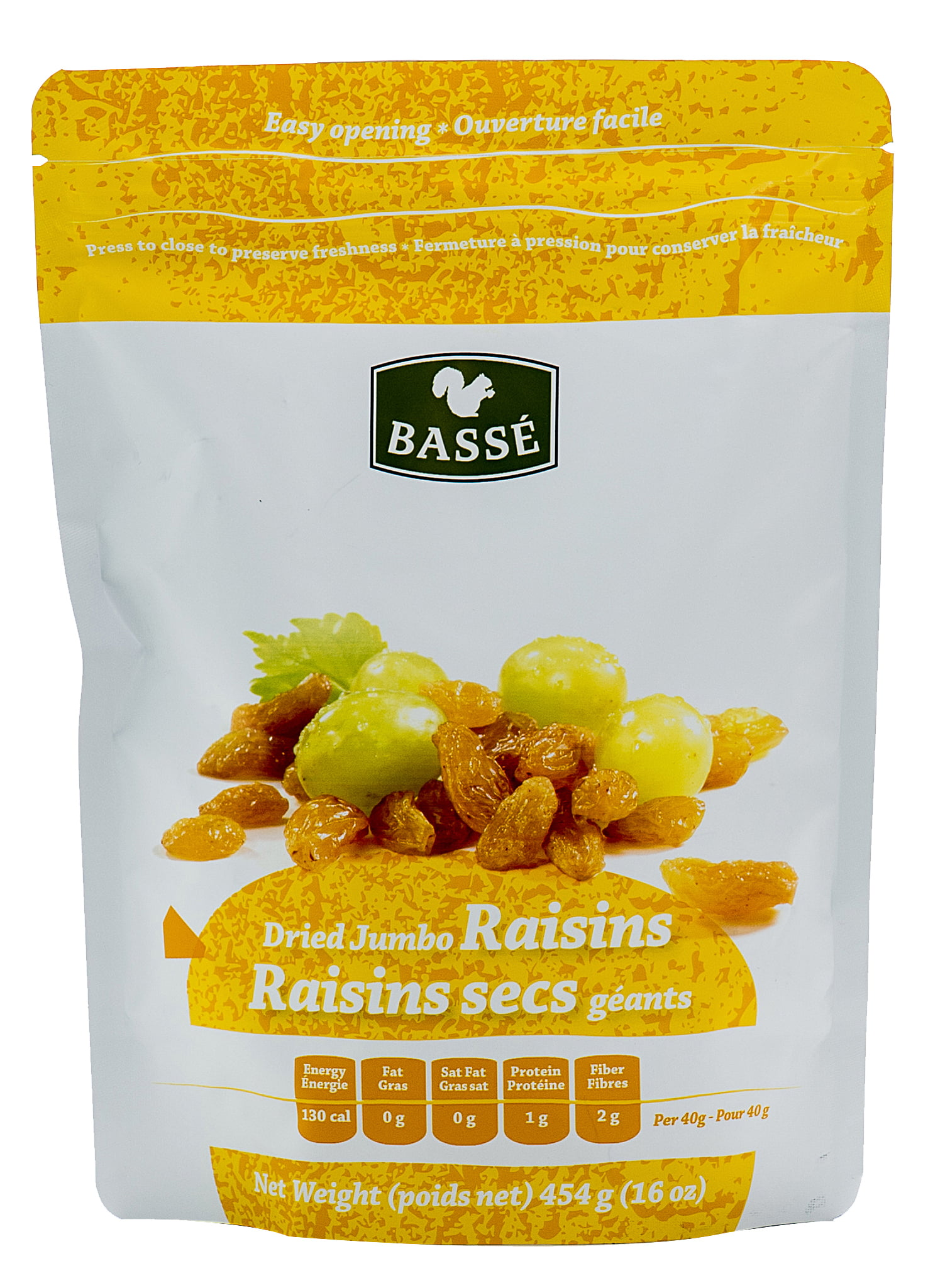 Basse Dried Fruits, Jumbo Raisins, 1 lb by Basse Nuts
