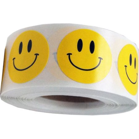 Smiley Face Stickers Yellow Happy Face Liels For Teachers 34 Inch