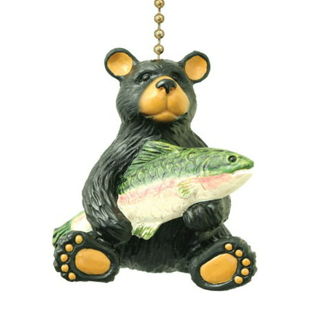 Black Bear With Fish Catch Nature Lover Decorative Ceiling
