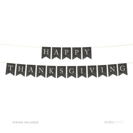 Vintage Thanksgiving Decorations (Happy Thanksgiving! Vintage Chalkboard Pennant Party)