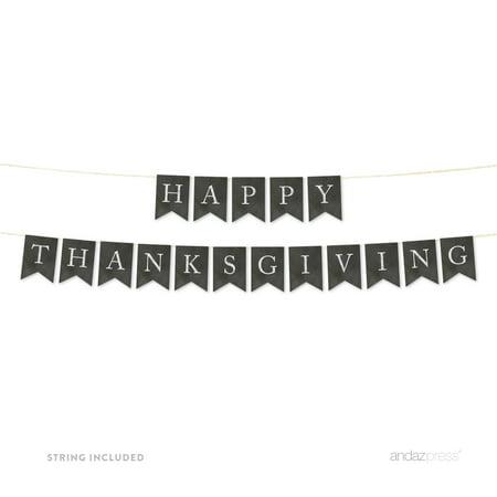 Happy Thanksgiving! Vintage Chalkboard Pennant Party Banner - Happy Thanksgiving Banners