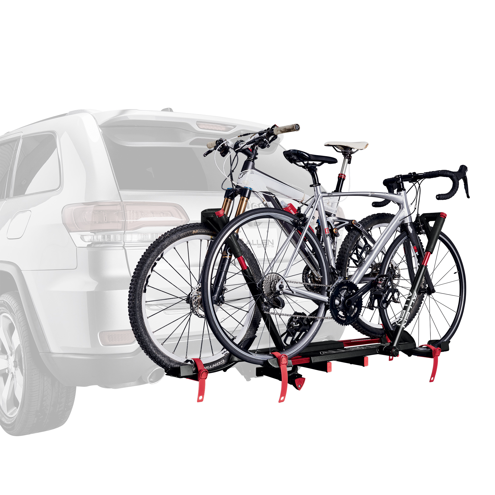 "Allen Sports Easy Load Deluxe 2-Bike Hitch Rack for 1 1//4/"" and 2/"" Hitch"