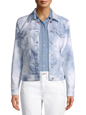 EV1 from Ellen DeGeneres Love Flag Tie Dye Denim Jacket Women's