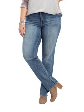 cae458d8657 Product Image maurices Women s Straight Leg Jean - Plus Size DenimFlex  Medium Wash Mid Rise