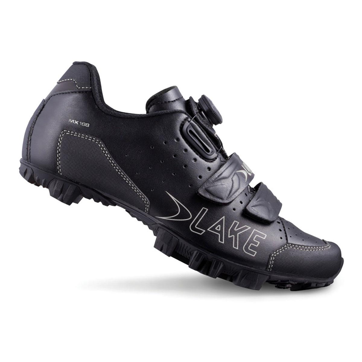 Lake Cycling 2017 Men's MX168 Mountain Cycling Shoes - Black/Silver