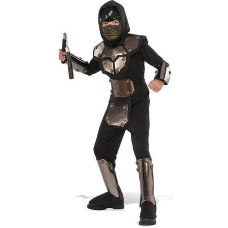 Boys Iron Phantom Ninja Costume - Phantom Of Darkness Costume