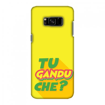 Samsung Galaxy S8 SM-G950U Case, Samsung Galaxy S8 Case - Tu Gandu Che?, Hard Plastic Back Cover. Slim Profile Cute Printed Designer Snap on Case with Screen Cleaning Kit