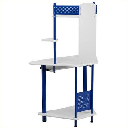 Scranton & Co Corner Computer Desk with Hutch in Blue - image 1 of 2