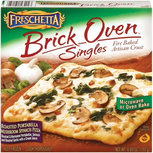 FRESCHETTA Brick Oven Singles Roasted Portabella Mushroom Spinach Pizza, 6.8 oz