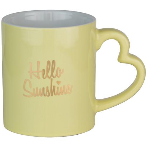 TenStrawberryStreet Hello Sunshine Heart Barrel Mug