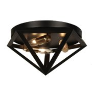 Dainolite 3 Light Flush-Mount - Matte Black