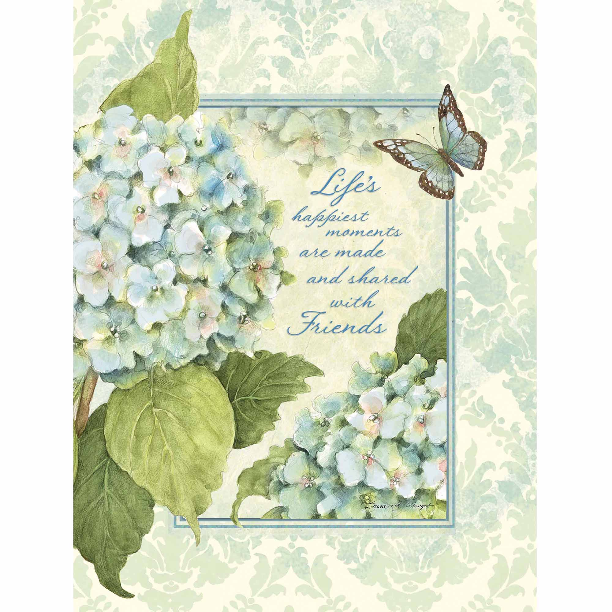 "Lang ""Blue Hydrangea"" Address Book"