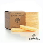 Face Sponges - Compressed Cellulose Facial Sponges - Cosmetic Sponges for Facial Cleansing - 100% Natural & Biodegradable