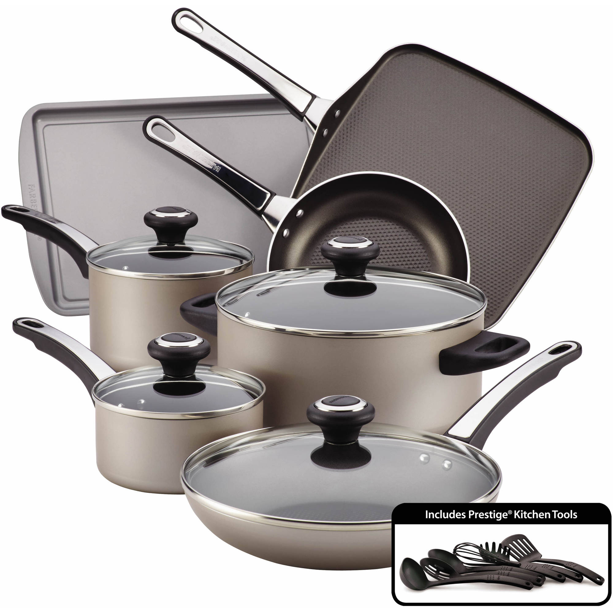 Faberware High Performance Nonstick 17-Piece Cookware Set by Farberware Cookware