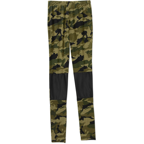 Juniors Camo Legging with Faux Leather Patches