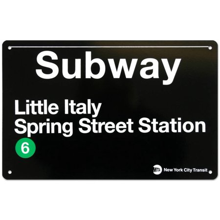 Subway Little Italy- Spring Street Station Tin Sign - 17x11