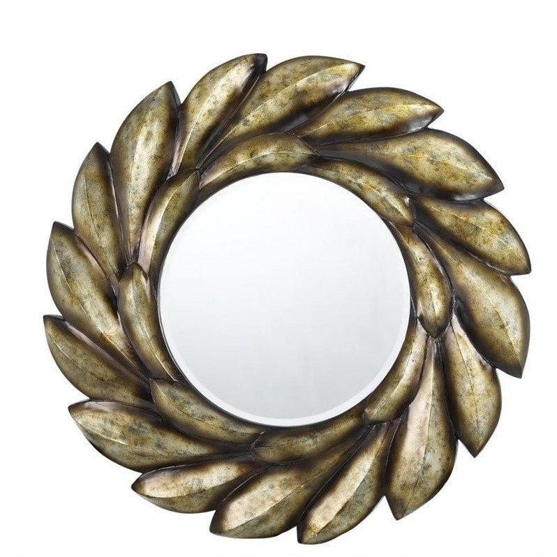 Cal Lighting Poly Urethane Mirror in Coppery
