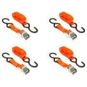 """1"""" x 72"""" Orange Cam Buckle Cargo Tie-Down Strap 4-Pack"""