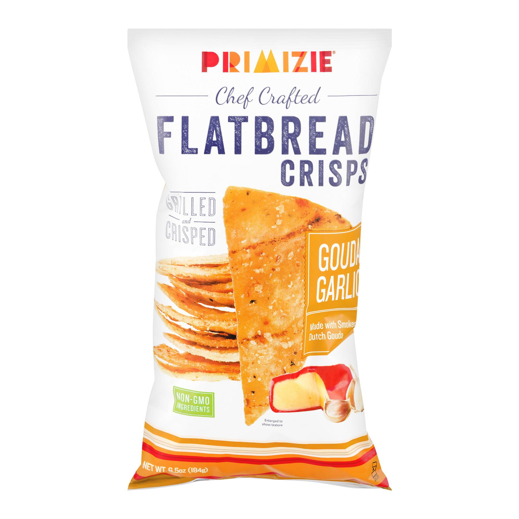 Primizie Chef Crafted Flatbread Crisps Gouda Garlic, 6.5 OZ by Piadina, Inc.