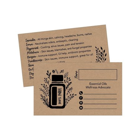 25 Rustic Essential Oils Business Cards, Doterra, Young Living YL Marketing Supplies, Tools, Brochures, Accessories, Planner, Book Mark with Oil Reference Instructions, Party Thank You Gift Bag Favors - Halloween Thank You Gifts