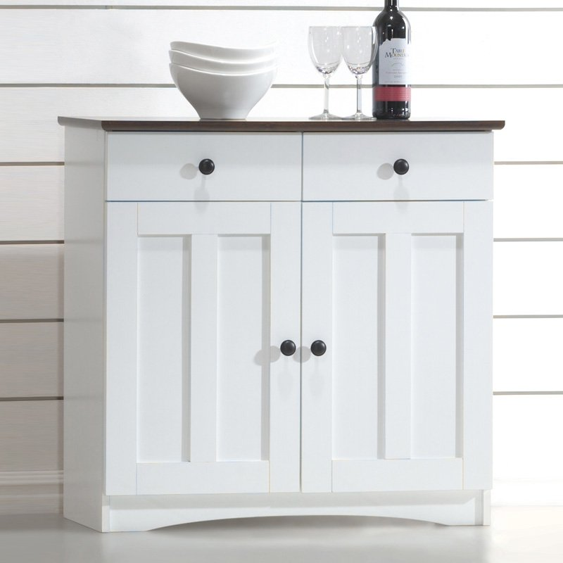 Baxton Studio Lauren Buffet Kitchen Cabinet by Baxton Studio