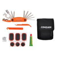 Eighteen Function Bike Multi-Tool with Patch Kit, Tire Levers, and Case