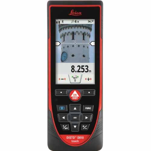 Leica Disto D810 650ft Touch Laser Distance Meter up to 660ft,Black/Red