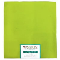 "Waverly Inspiration Fat Quarter LIME 100% Cotton, Solid Fabric, Quilting Fabric, Craft fabric, 18"" by 21"", 140 GSM"