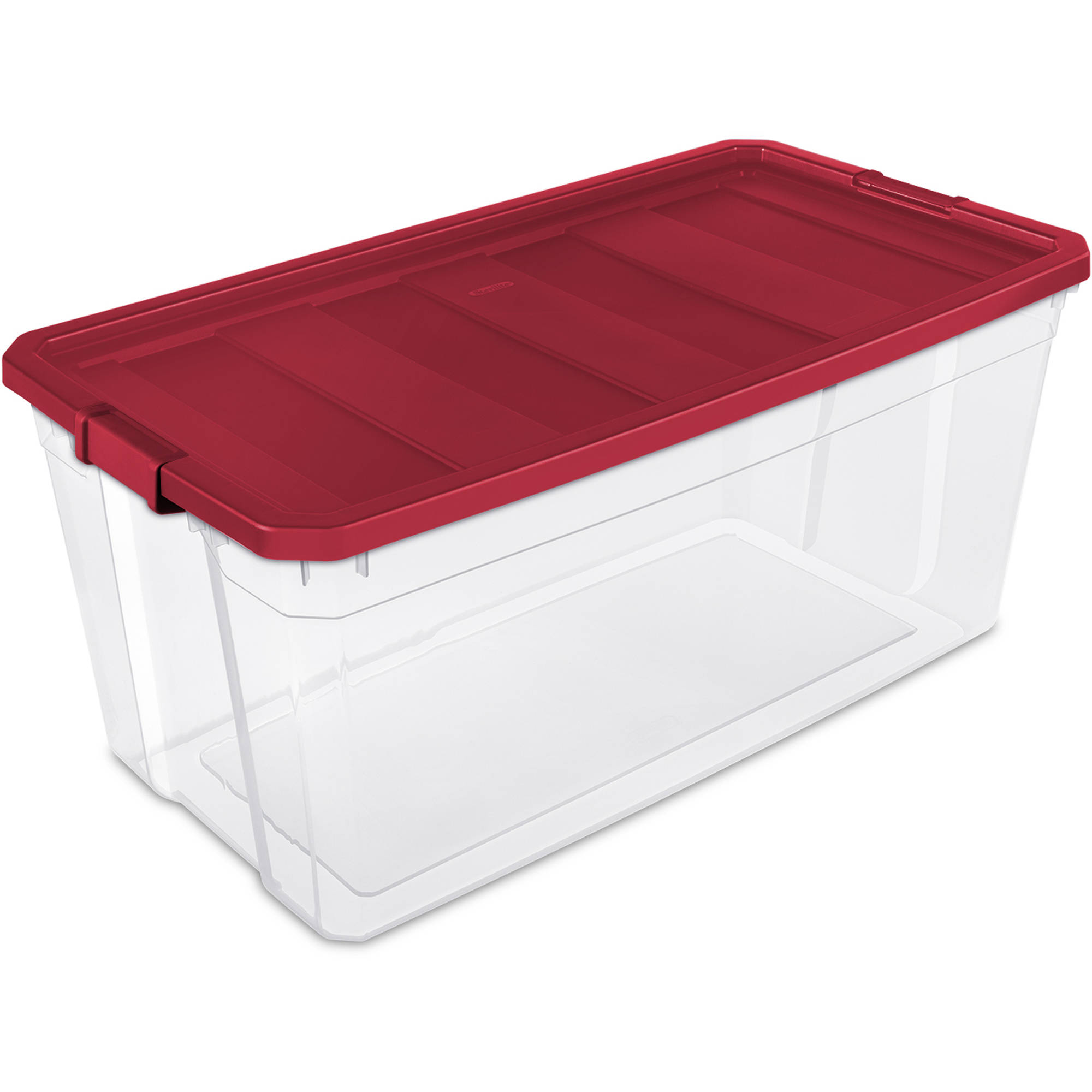 Sterilite 50-Gallon Stacker Box, Really Red