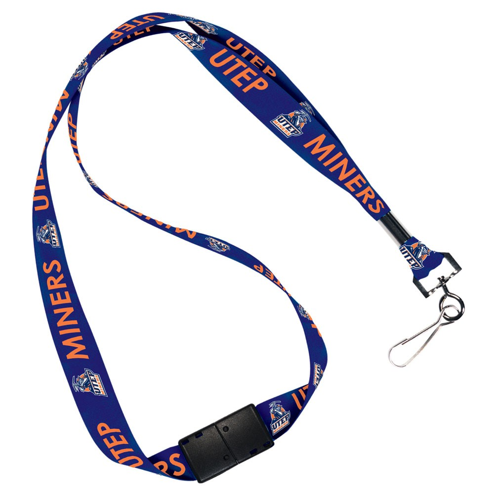 UTEP Miners Official NCAA 20 inch  Lanyard Key Chain Keychain by Wincraft