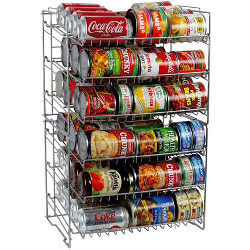 Atlantic 6-Shelf Can Rack, Silver