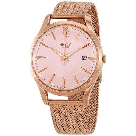 Henry London Shoreditch Pink Dial Unisex Watch HL39-M-0166