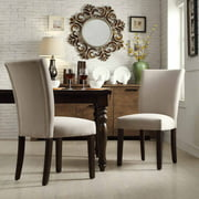 Ayana Fabric Parson Chair, Set of 2, Multiple Colors
