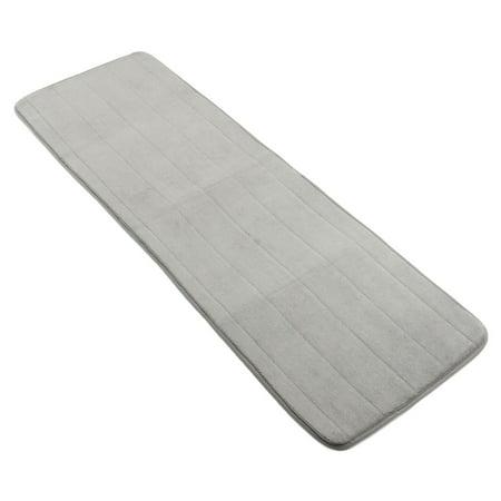 120x40cm Long Doormat Resistant Water Absorbent Memory Foam Non-slip Door Floor Rug Mat Shower Bathroom Kitchen Bedroom Soft Carpet, Grey ()