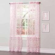 Briana Pink Window Curtains, Pair
