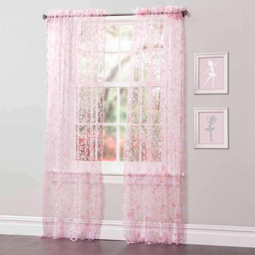 Briana Pink Window Curtains, Pair - Walmart.com