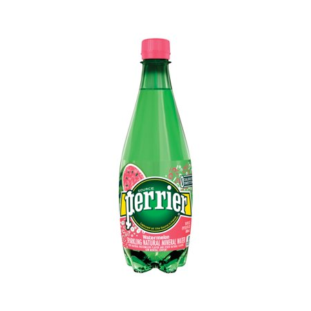 Perrier Sparkling Natural Mineral Water, Watermelon, 16.9 Fl Oz, 24 Count